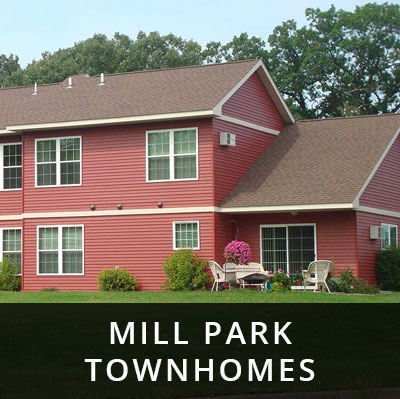 Mill Park Townhomes for rent Little Falls MN