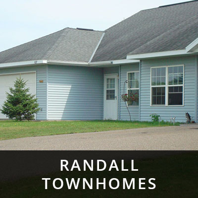 Randall Townhomes for rent Randall MN